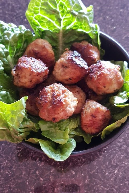 pork and veal meatballs