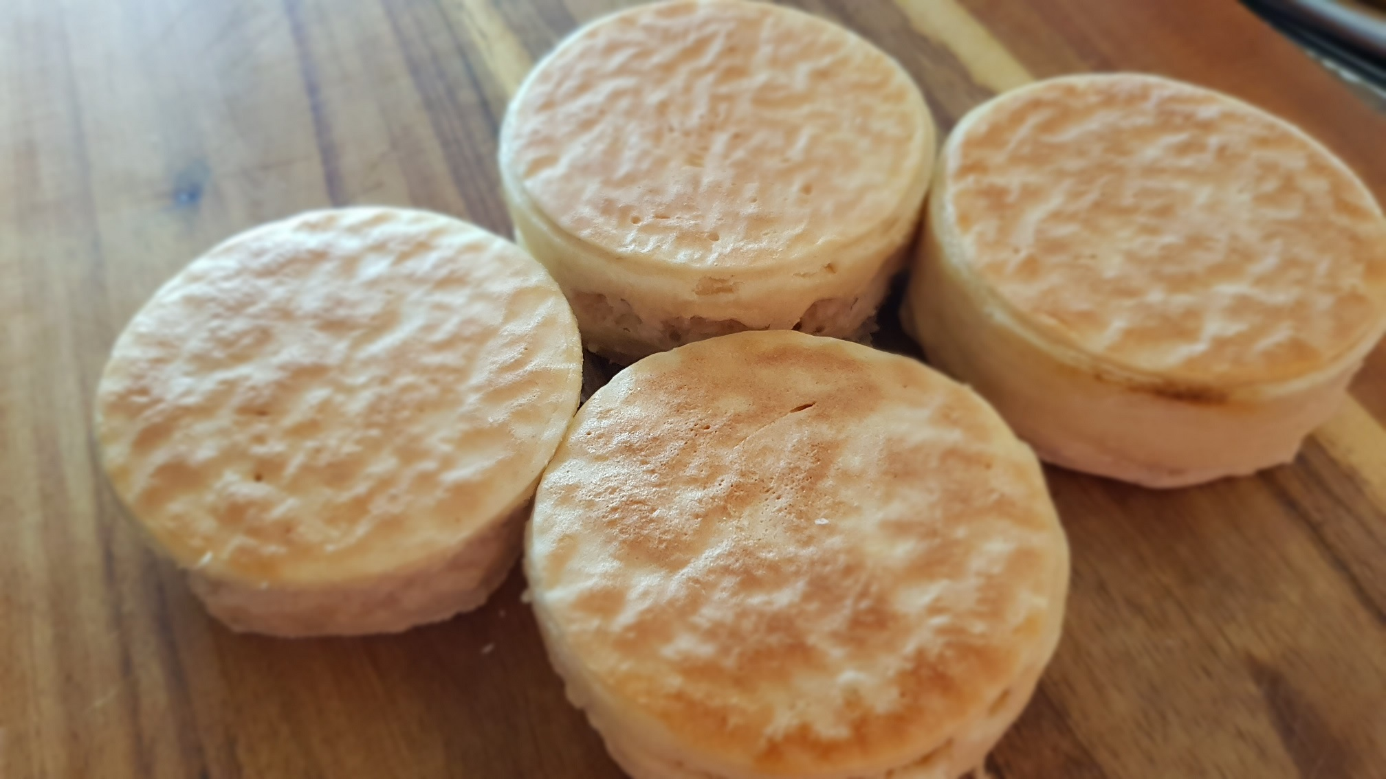 finished crumpets
