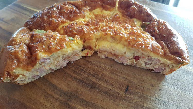 crust less ham quiche