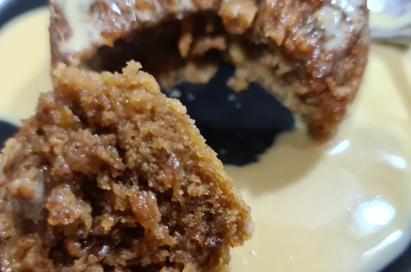 Spiced apple and ginger pudding